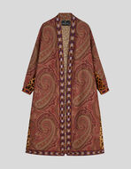 PAISLEY JACQUARD COAT WITH TAPES
