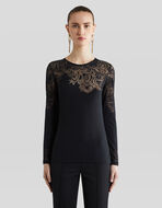 JUMPER WITH LACE EFFECT PAISLEY PATTERNS
