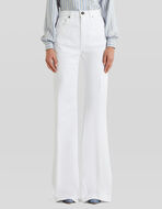 FLARED EMBROIDERED JEANS