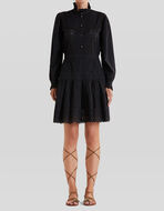 COTTON DRESS WITH RUCHES AND EMBROIDERY