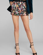 SHORTS WITH FLORAL EMBROIDERY IN SEQUINS
