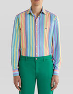 MULTI-COLOURED STRIPED COTTON SHIRT