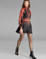 PAISLEY-PRINT SILK SHIRT DRESS