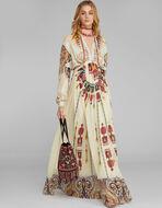 IKAT AND PAISLEY PRINT DRESS