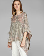 DOUBLE-SIDED SILK PONCHO