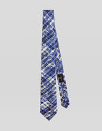 CHECK TIE WITH FLORAL PAISLEY DESIGNS