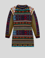 KNITTED JACQUARD DRESS WITH ETRO LOGO