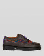 LACE-UP SHOES WITH CHECK PATTERN