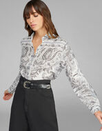 PAISLEY FOLIAGE PATTERN SHIRT