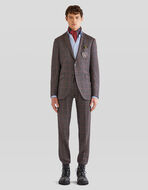 CHECK TROUSERS WITH TUCKS