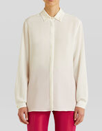 SILK SHIRT WITH EMBROIDERY