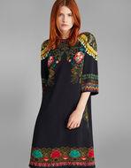 フローラルプリント チュニックドレス