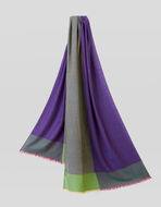COLOUR BLOCK WOOL AND SILK SCARF