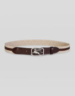 WOVEN BELT WITH PEGASO