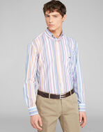 STRIPED SHIRT WITH EMBROIDERED PEGASO