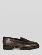 LEATHER MOCCASINS WITH HEAVY-DUTY SOLE