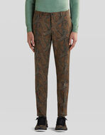 TAILORED PAISLEY PATTERN TROUSERS
