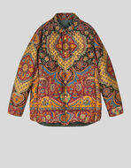DOWN SHIRT-JACKET IN PAISLEY CHENILLE