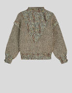 STRIPED WOOL AND MOHAIR JUMPER