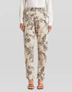 LEAFY FLORAL PRINT TROUSERS