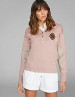 PAISLEYプリント エルボーパッチ セーター
