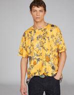 花柄プリント コットンTシャツ