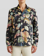 SHIRT WITH WATER LILIES AND TIGERS