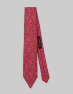 小ぶりPAISLEYプリント シルク ネクタイ