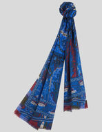 SCARF WITH FLORAL PAISLEY PATTERNS