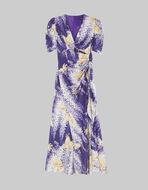 JACQUARD WISTERIA PRINT DRESS