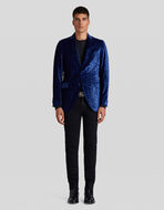 PRINTED VELVET TAILORED JACKET