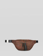 PAISLEY-PRINT BELT BAG WITH JACQUARD DETAILS