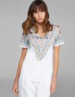 スカーフプリント Tシャツ