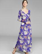 花朵针织连衣裙