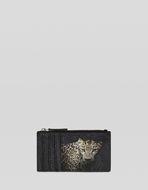 LEOPARD DESIGN PAISLEY CARD HOLDER