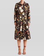 TIGER AND WATER LILY PRINT DRESS