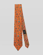 FLORAL CHECK TWO FABRIC TIE