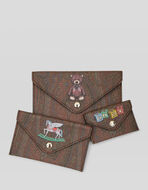 SET THREE PRINTED POCHETTES