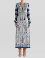 MOSAIC PAISLEY PRINT DRESS