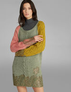 KNITTED DRESS WITH LACE AND LUREX DETAILS
