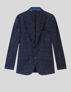 JERSEY JACKET WITH PAISLEY PRINT