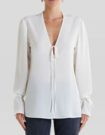 SILK BLOUSE WITH RIBBONS