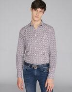 小ぶりPAISLEY柄プリント コットンシャツ