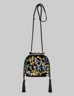 MINI BUCKET BAG WITH EMBROIDERY