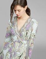 PAISLEY PRINT JERSEY DRESS