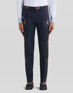 JACQUARD TROUSERS WITH TUCKS