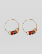 CIRCLE EARRINGS WITH MULTI-COLOUR ELEMENTS
