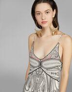 PAISLEYプリント ジャージー ドレス