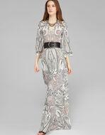 PAISLEY柄ロングドレス