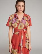 フローラルプリント ドレス
